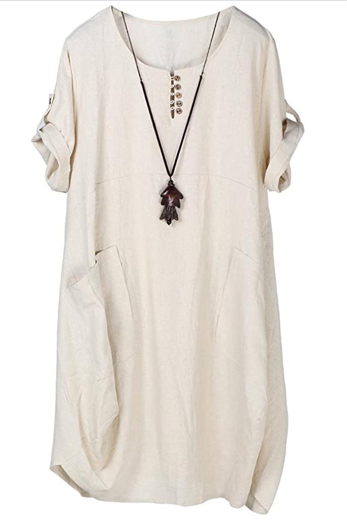 best linen dress, linen dress, amazon linen dress