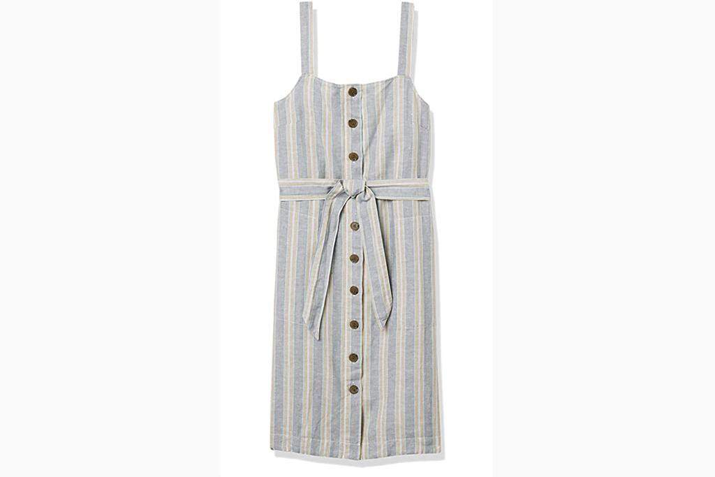 best linen dress, amazon linen dress, blue dress