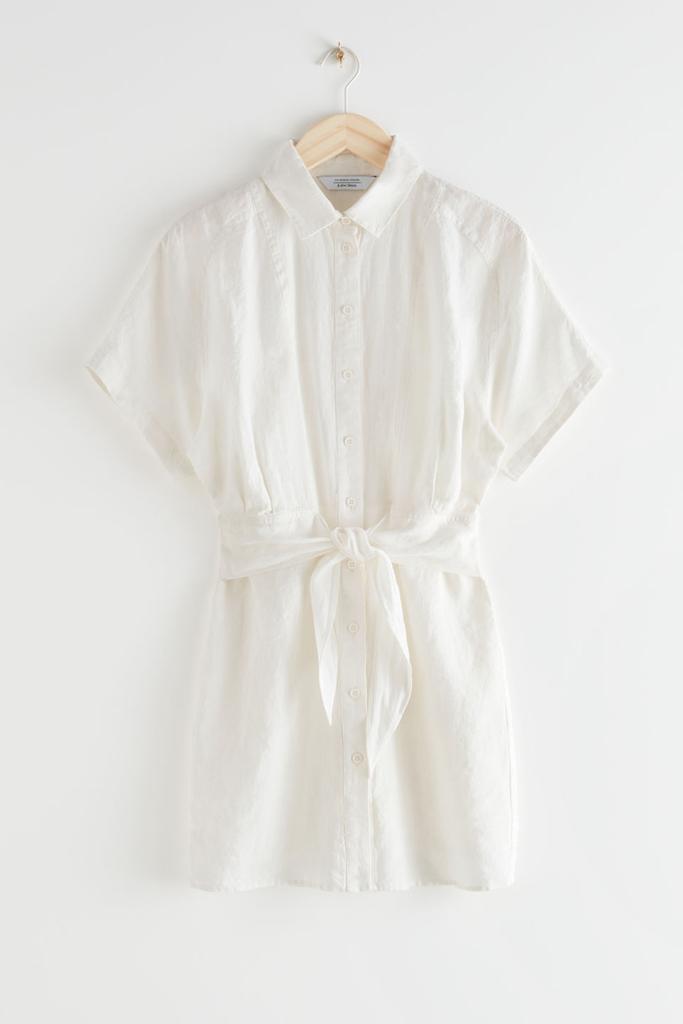 best linen dress, & other stories linen dress, cream dress