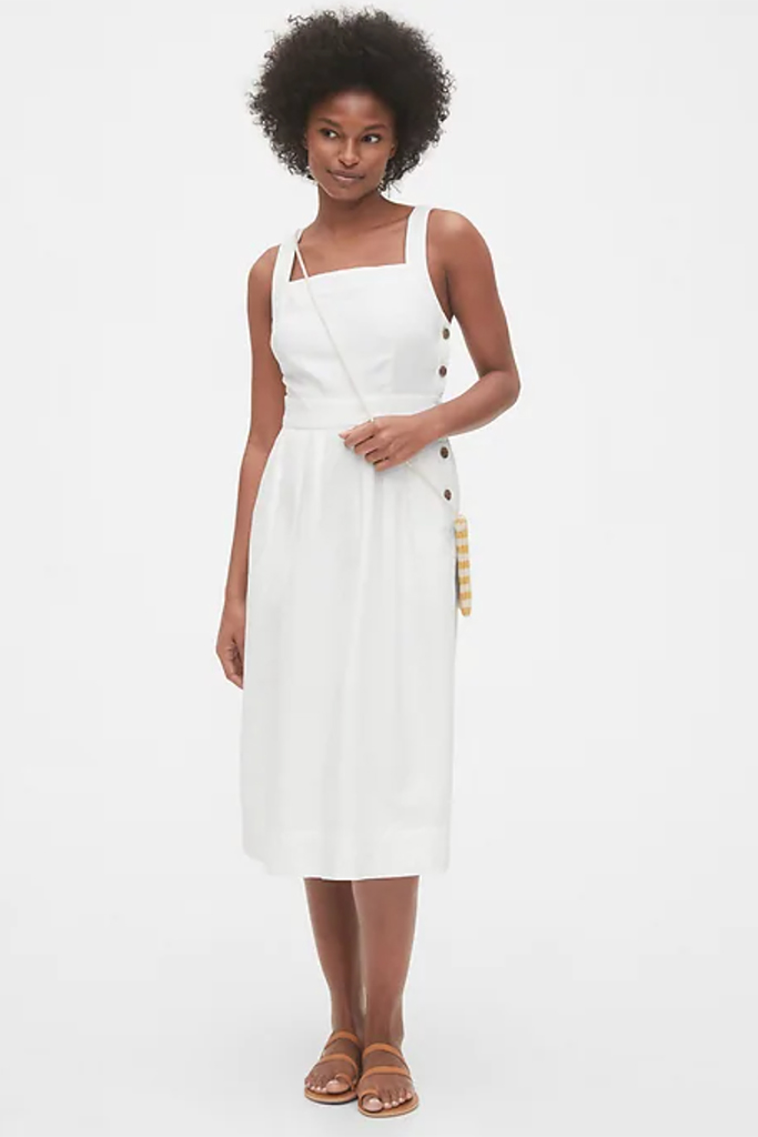 gap, white linen dress, gap dress