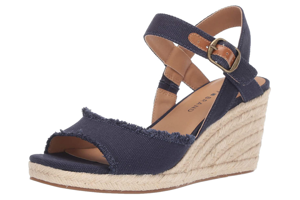 lucky jeans, sandals, wedges, espadrilles
