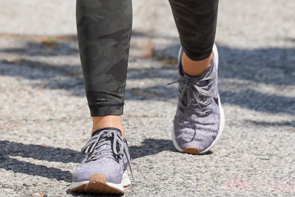 lucy hale, style, sneakers, leggings, nike, white tank, walk, los angeles