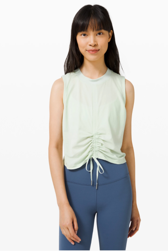 lululemon shirt, lululemon warehouse sale, mint green fitness shirt