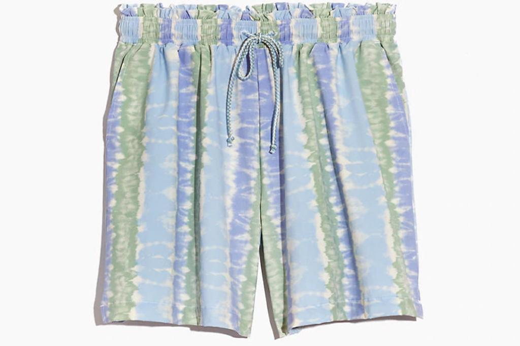 madewell sale, madewell shorts, tie-dye shorts