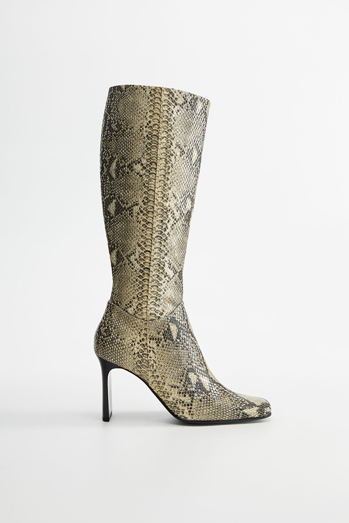 mango boots, mango shoe sale, snakeskin boots
