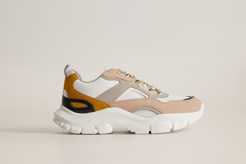 mango shoe sale, panel sneakers, mango trainers