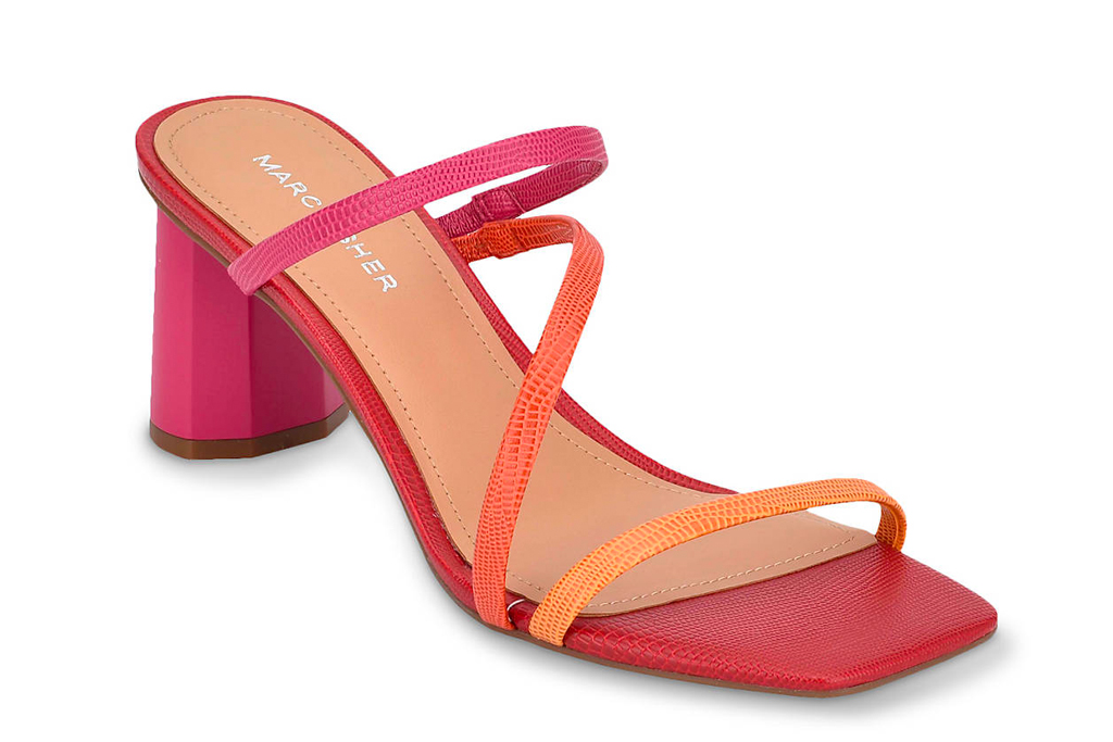 marc fisher, sandals, heels, strappy, coral, pink
