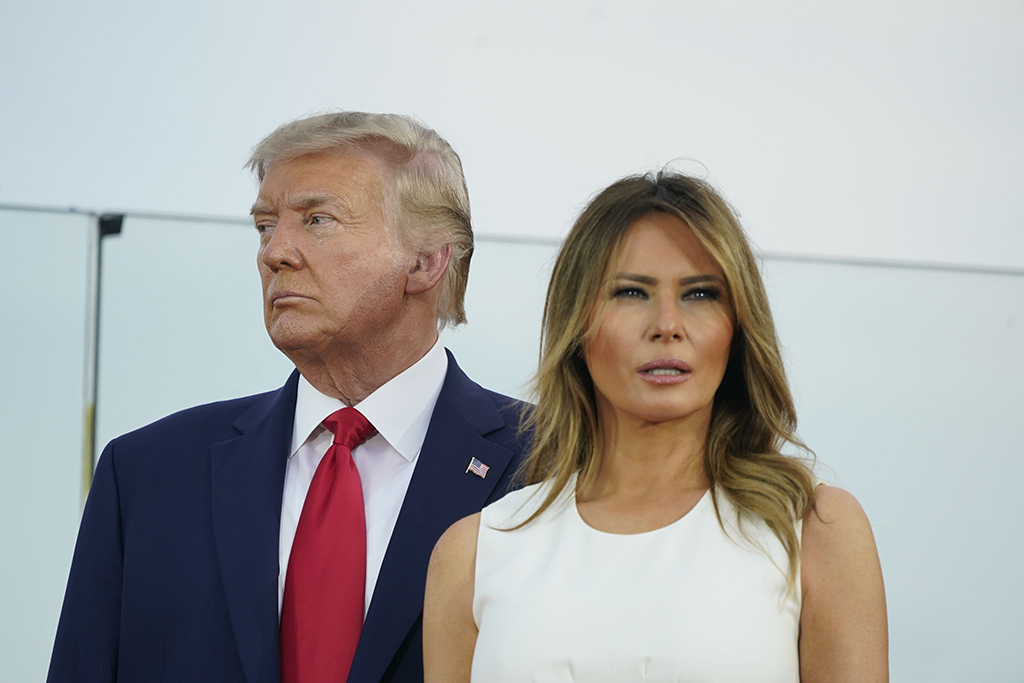 Melania Trump, Donald Trump, Fourth of July Outfit, 2020