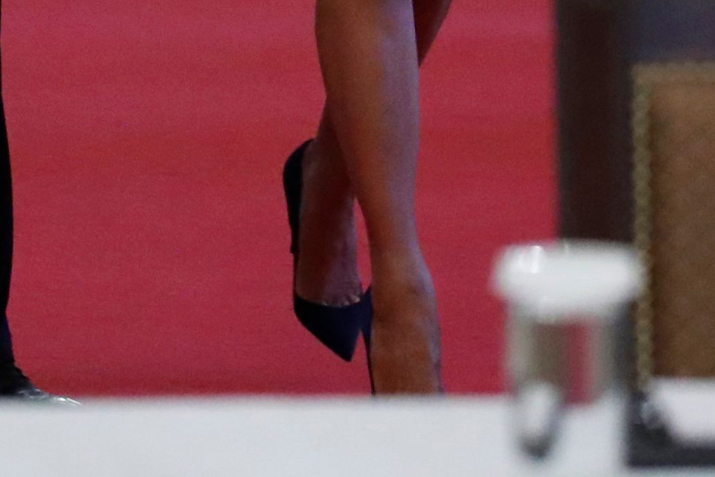 melania trump, style, dress, heels, skirt, pumps, white house, louboutin, christian louboutins