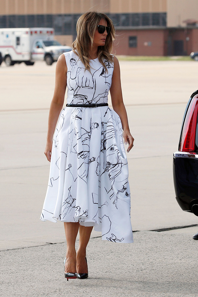 Melania Trump Alexander Mcqueen Dress Dancing Girls Drawings Dress Footwear News