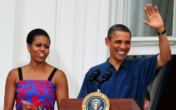 Barack Obama , michelle obama, white