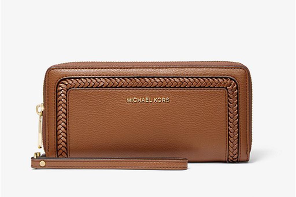 michael kors sale, michael kors leather wallet, large wristlet