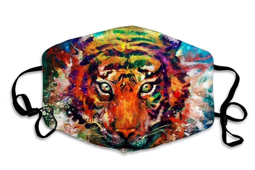 tiger, face mask