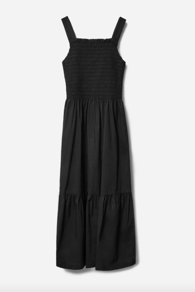 everlane dress, smocked dress, nap dress