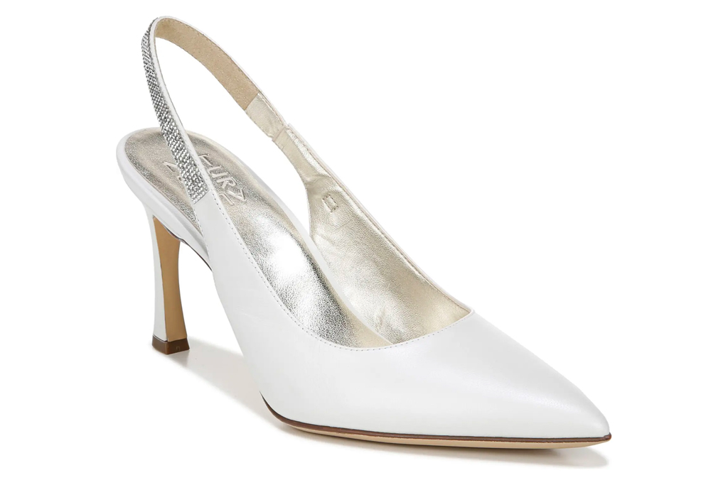 naturalizer, white, slingback