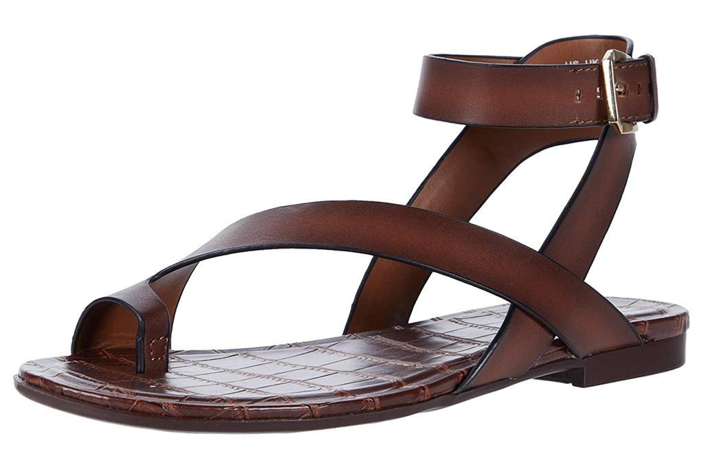 naturalizer sandals, brown, loop toe
