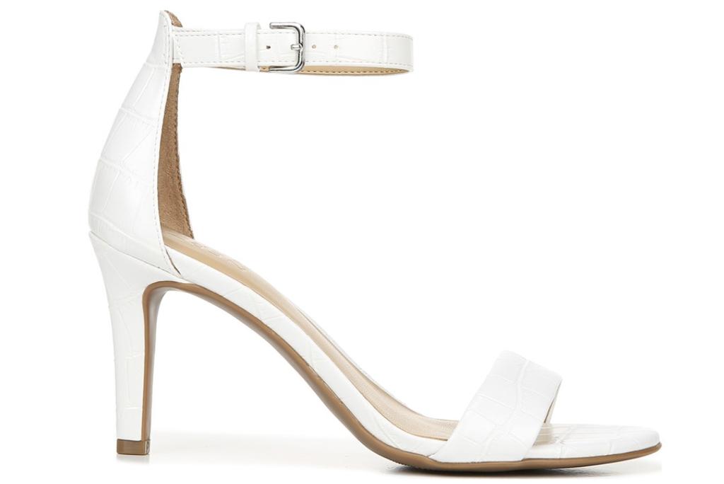 Naturalizer, white sandals