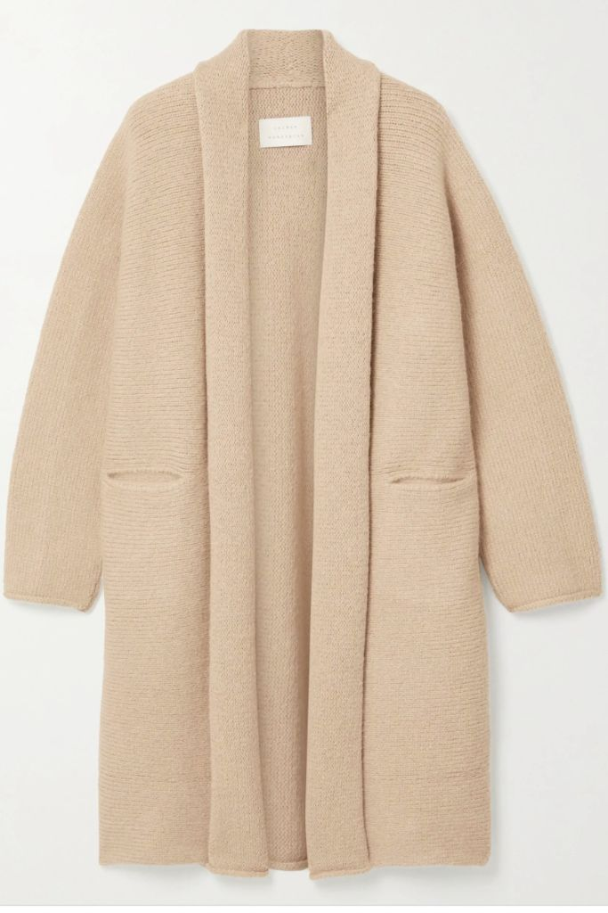 fall 2020 trends, fashion trends, cardi coat, knit duster, netaporter