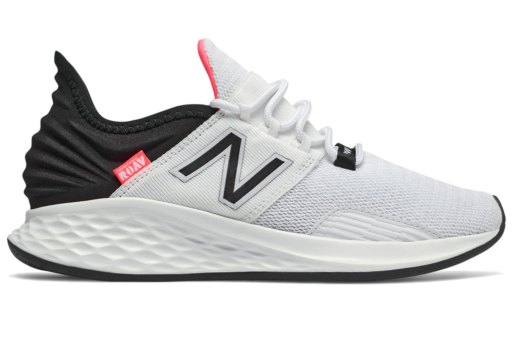 new balance, running shoes, pink, white, black