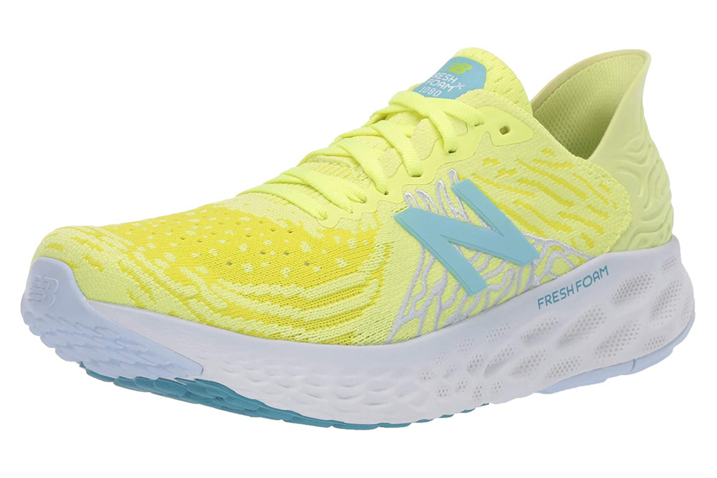 new balance, neon yellow, sneakers, training shoes