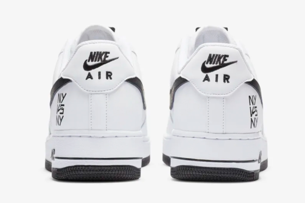 nike, ny vs ny, shoes, sneakers, white, air force 1, af1, black