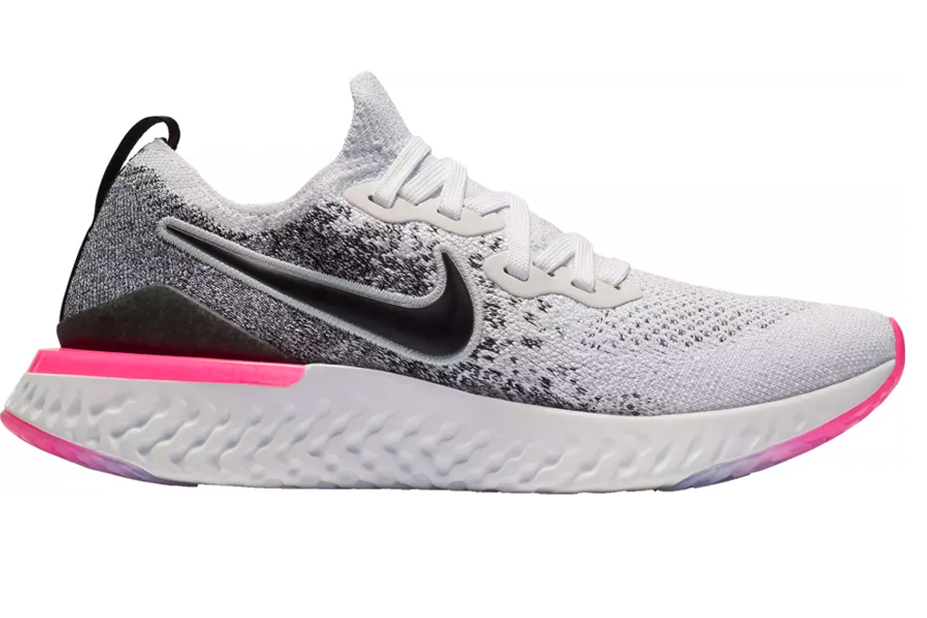 Nike, Epic React, Flyknit, Running Shoes, sneakers, black, white, pink