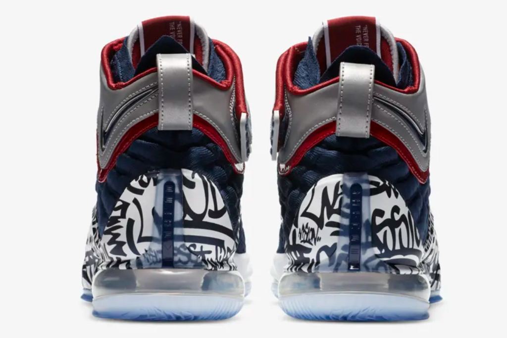 nike, lebron, 17, graffiti, sneakers, blue, red