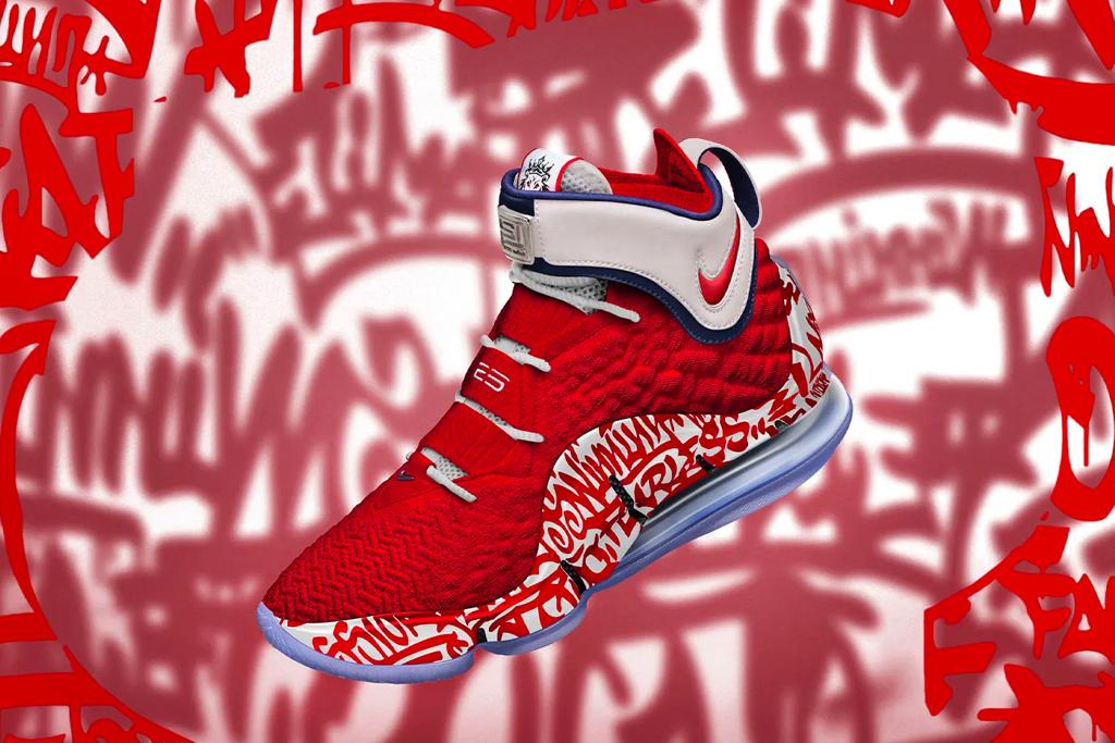 Nike LeBron 17 'Graffiti Fire Red' & 'Graffiti Cold Blue ...