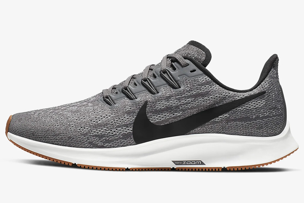 nike, zoom air pegasus, sneakers, gray