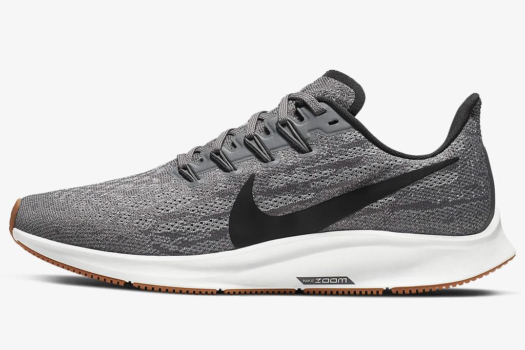 nike, zoom air pegasus, sneakers, gray