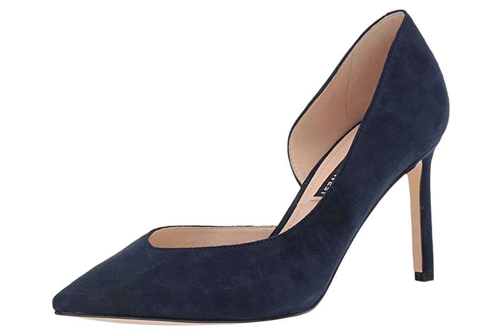 nine west, navy pumps