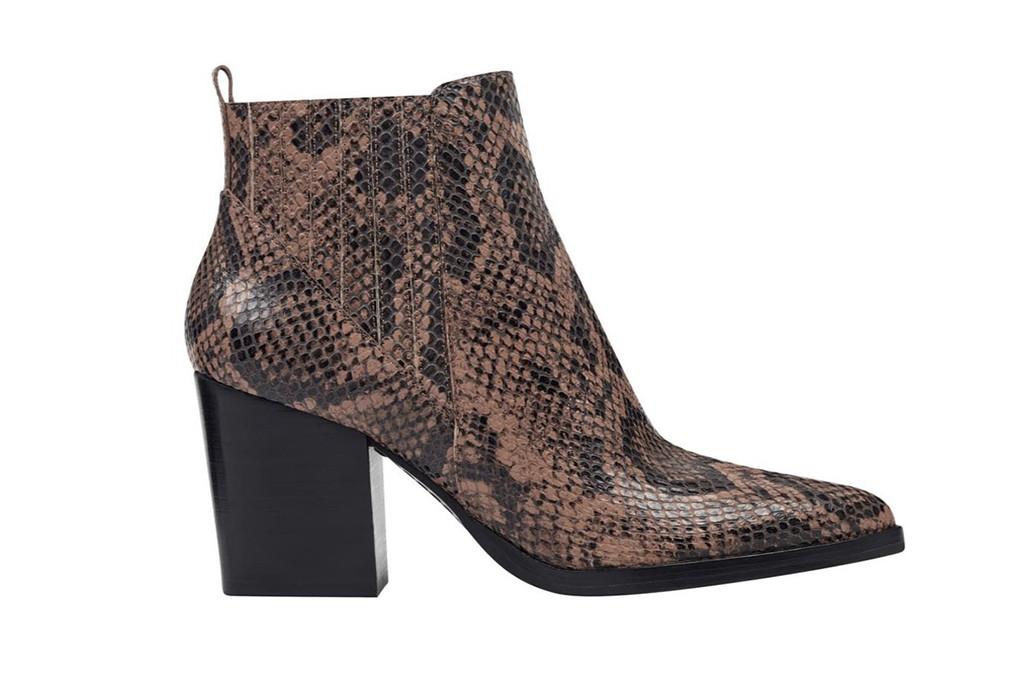 nordstrom rack sale, marc fisher booties, snakeskin boots