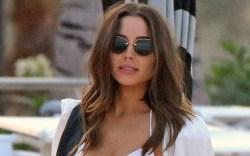 olivia culpo, bikini, white, style, beach