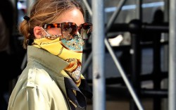Olivia Palermo, face mask, face covering