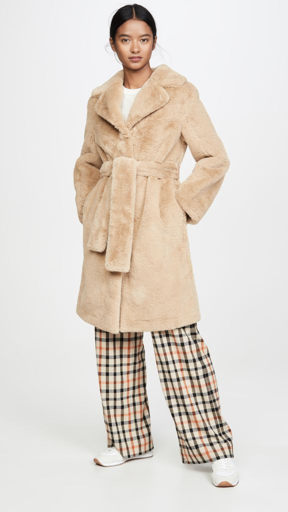 opening ceremony, faux fur coat, teddy coat, fall 2020 fashion trends, fashion trends, fall 2020 coats