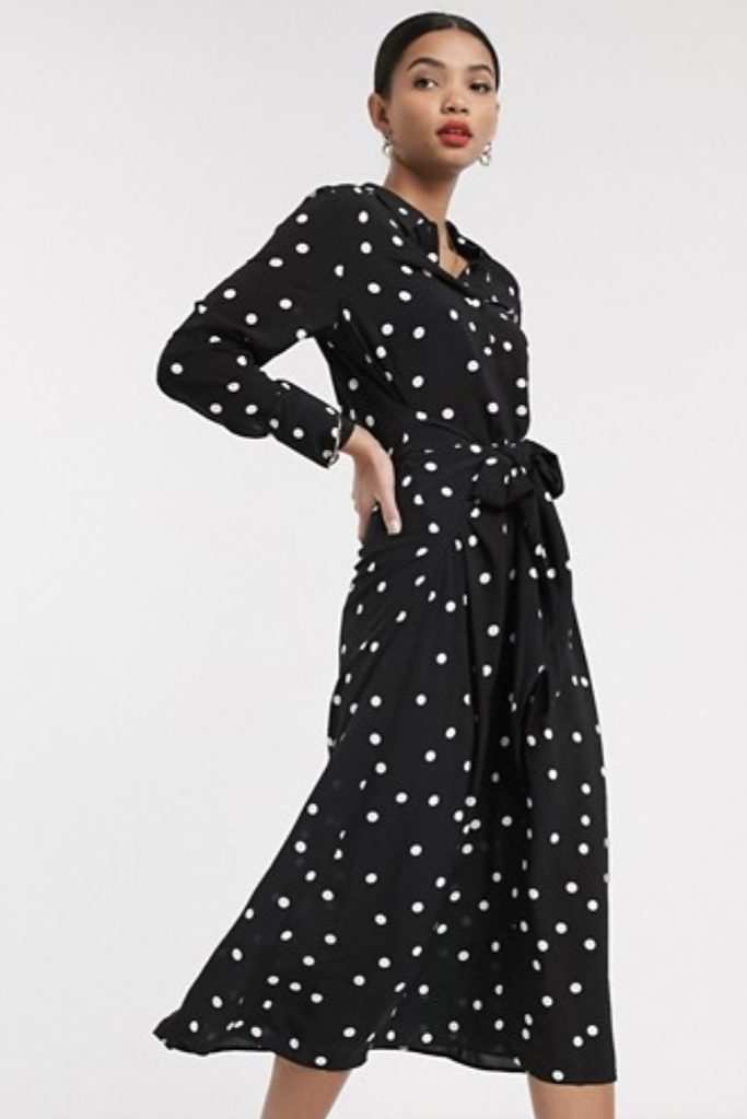 & other stories, polka-dot dress