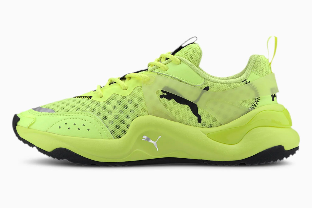 puma, neon yellow, sneakers
