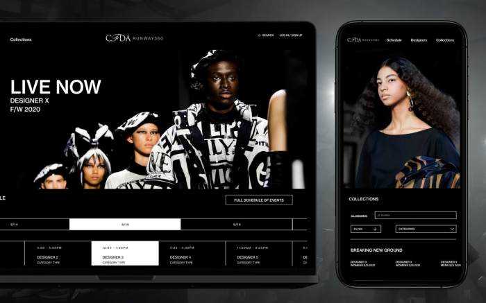 CFDA Runway360 Screenshot and mobile application