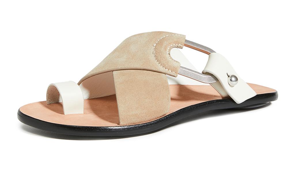 rag & bone, sandals, white brown