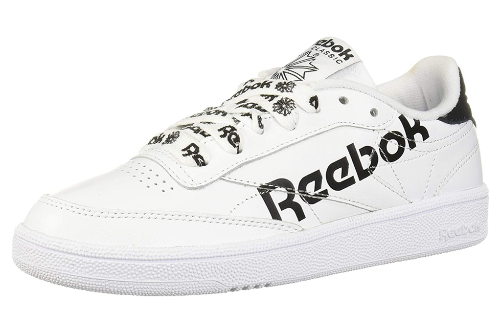 reebok, sneakers, white, black
