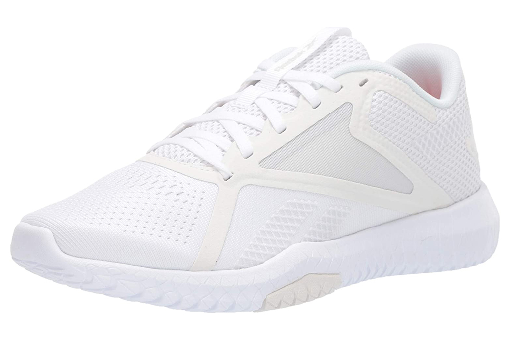 reebok, cross trainers, white