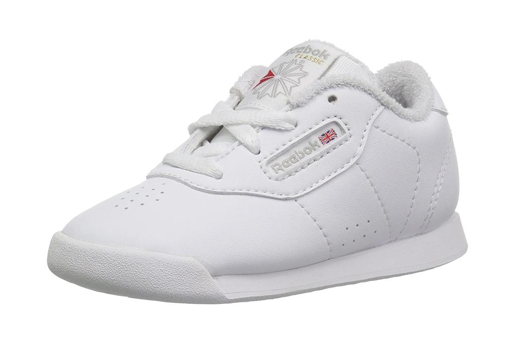 reebok, white sneakers, girls, toddler, princess