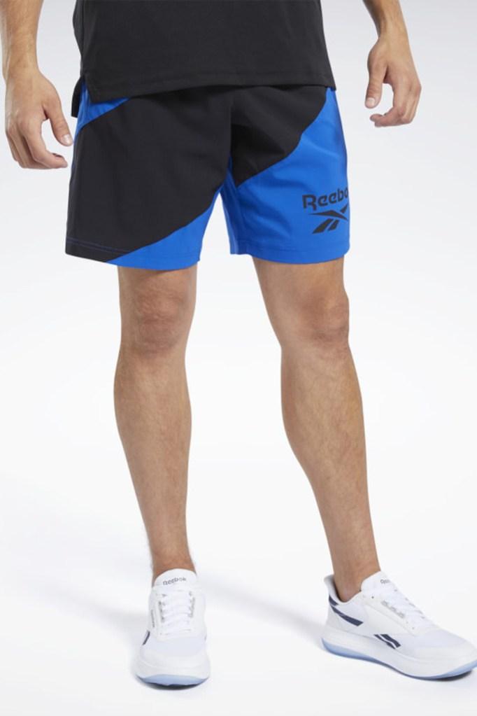 reebok sale, reebok workout shorts, reebok mens