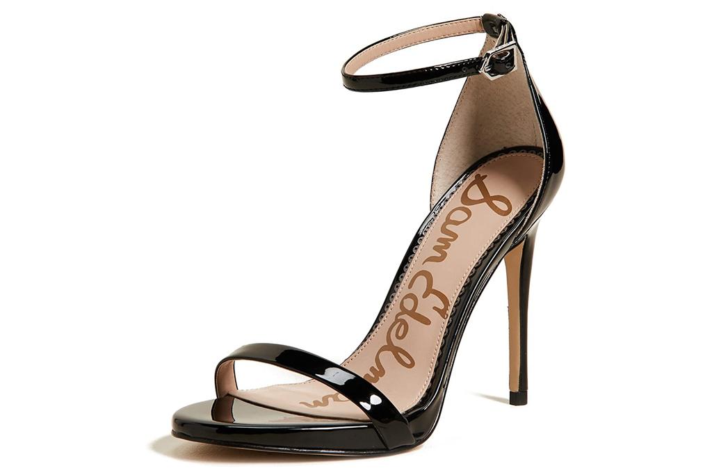 sam edelman, black sandals, strap, heeled