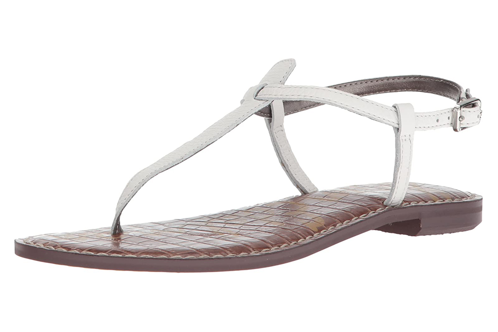 sam edelman, thong sandals, white