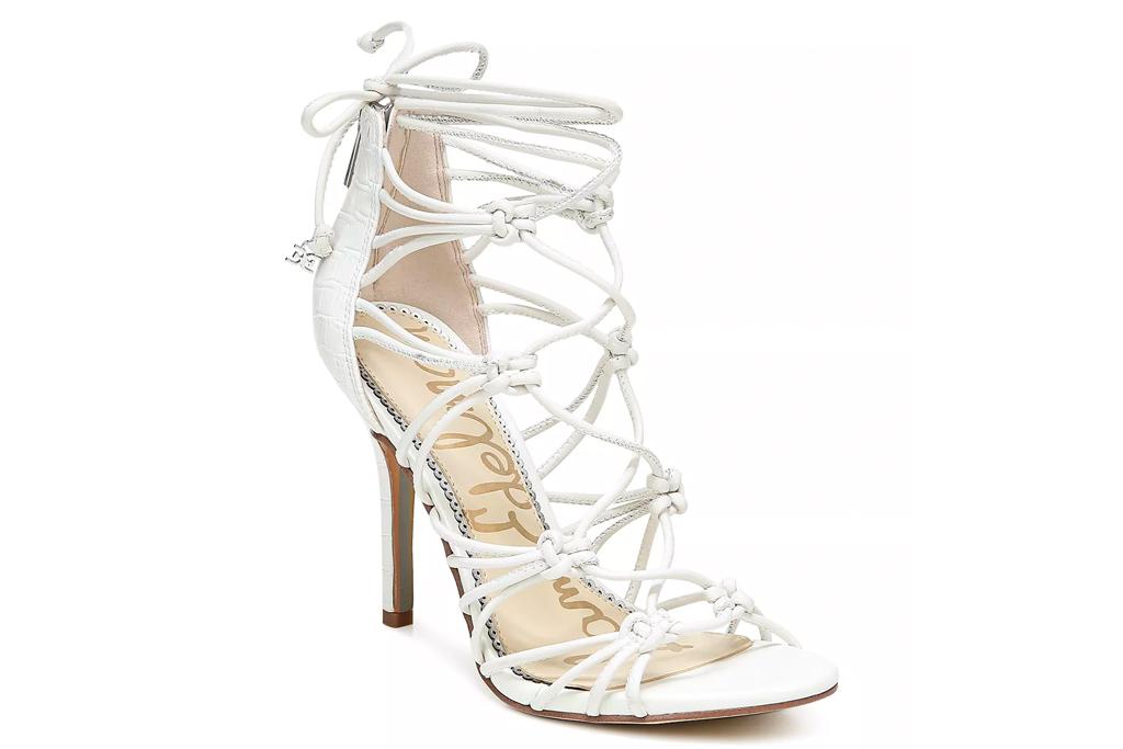sam edelman, white sandals, wrap