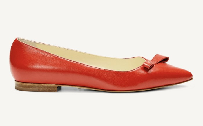 sarah flint sale, sarah flint natalie flat, red ballet flat
