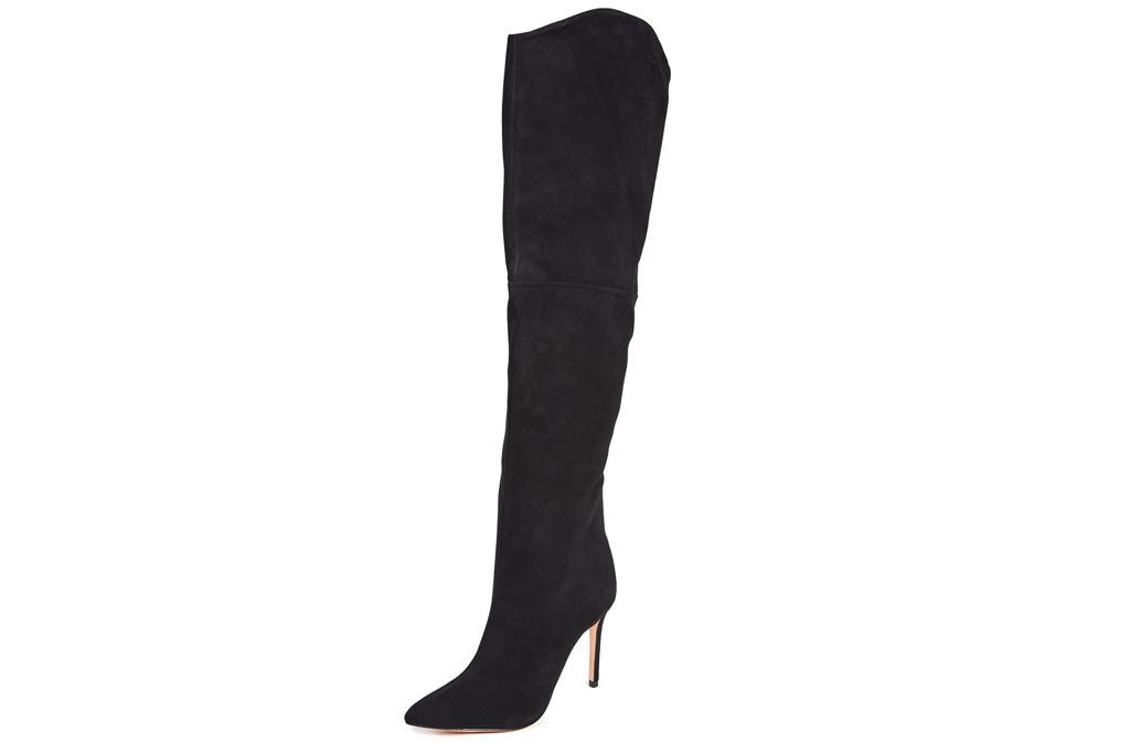 black boots, thigh high, boot