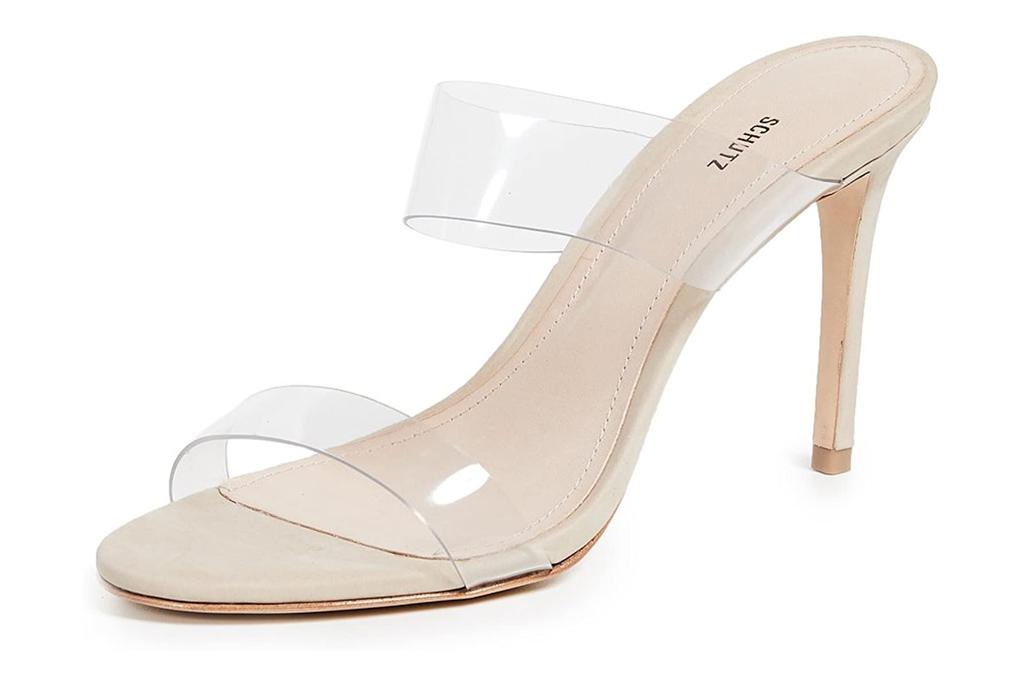 schutz, clear heels