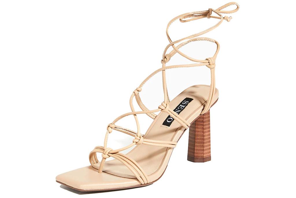 Senso, nude sandals, square-toe shoes